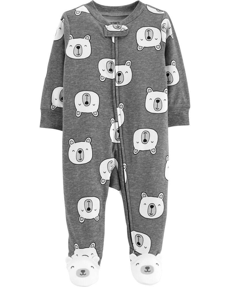 Macacão Pijama Carter´s - Urso Cinza