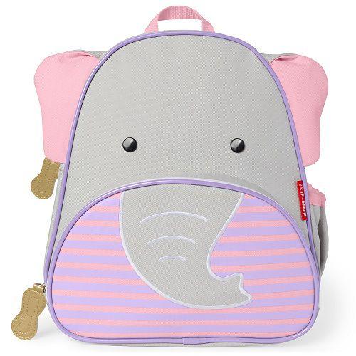 Mochila Skip Hop Zoo - Elefante Novo Cinza/Rosa