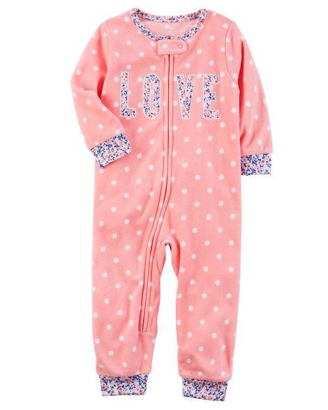 Pijama Carter's Inverno fleece - Macacão love