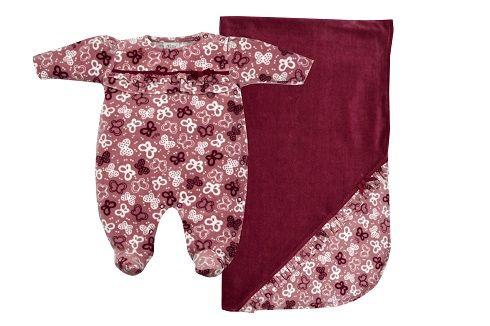 Saída Maternidade Kit 2 peças Bordô Plush