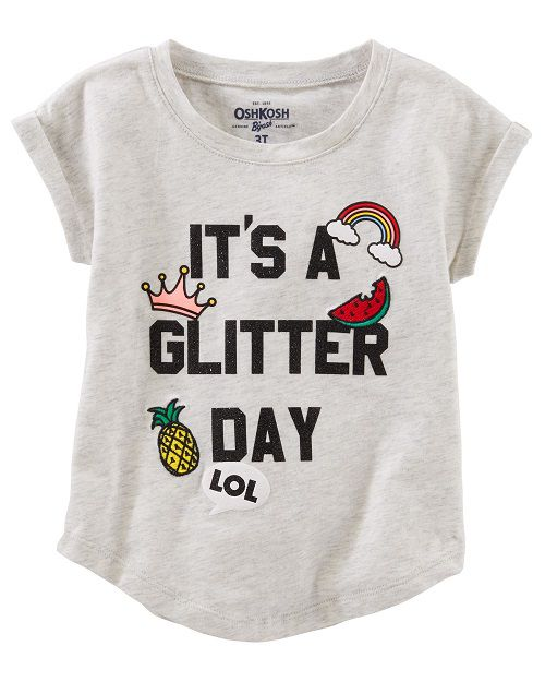Sparkle Tee - Camisa It´s a Glitter Day! Carter´s