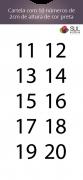 Adesivo Numeração - Recorte 11 a 20