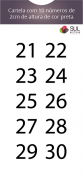 Adesivo Numeração - Recorte 21 a 30