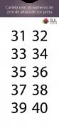 Adesivo Numeração - Recorte 31 a 40