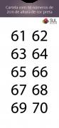Adesivo Numeração - Recorte 61 a 70