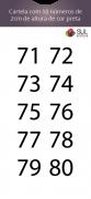 Adesivo Numeração - Recorte 71 a 80