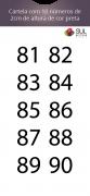 Adesivo Numeração - Recorte 81 a 90