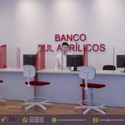 Barreira de Proteção p/ Mesas de Bancos em Acrílico - Kit c/ 10