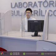 Barreira de Proteção para Mesa de Laboratórios - Kit com 10