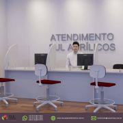 Barreira de Proteção p/ Mesa de Atendimento em Acrílico - 100x50cm