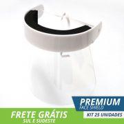 Face Shield Protetor Facial Total Premium - Kit com 25
