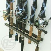 Suporte organizador de varas de pesca - Modelo Trairão