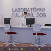 Barreira de Proteção para Mesa de Laboratórios