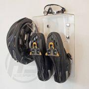 Suporte para sapatilha de ciclismo, capacete e óculos - Modelo Multi