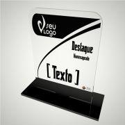 Troféu personalizável em acrílico para premiações de eventos e campeonatos - Modern Vertical
