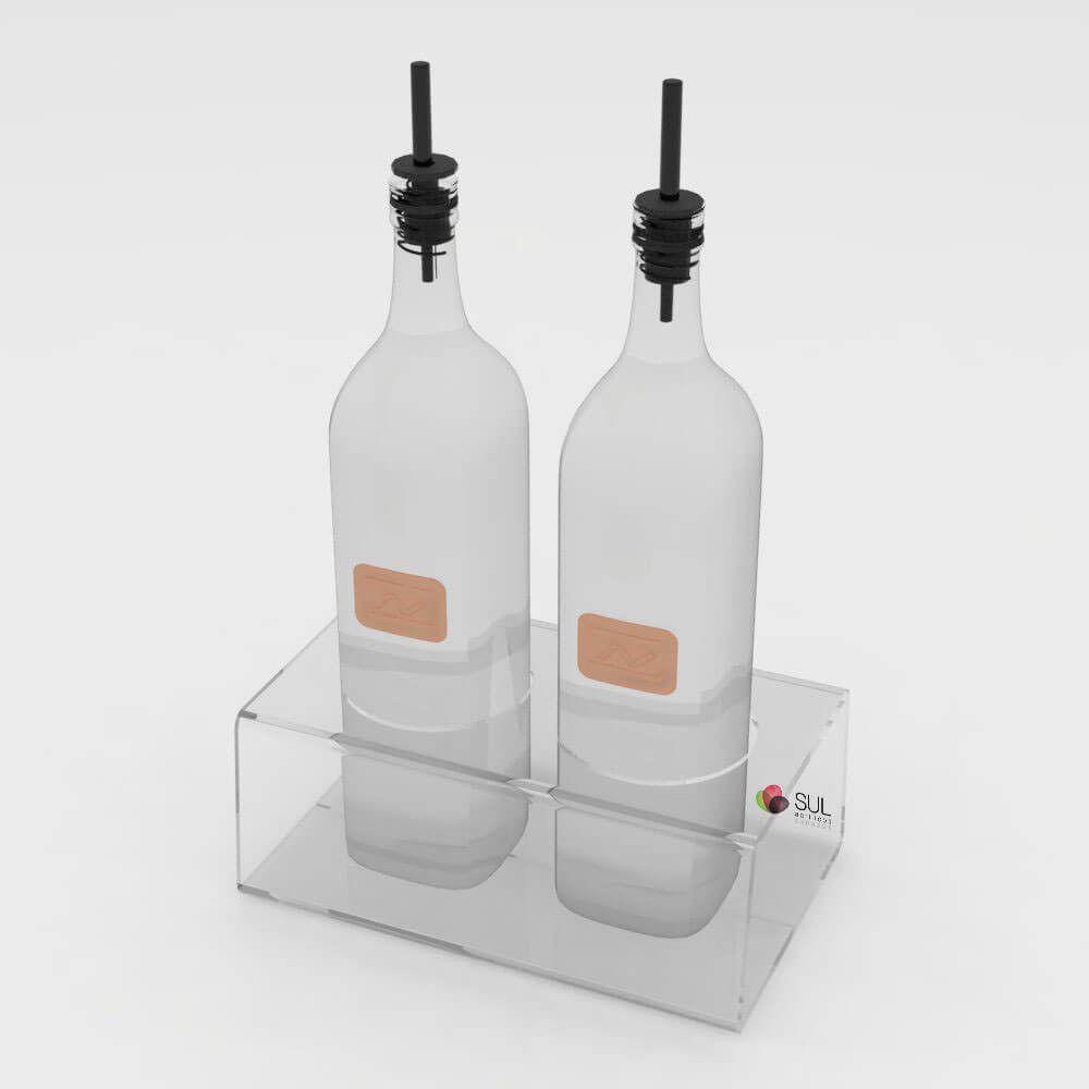 Galheteiro de Acrílico p/ Vinagre e Azeite