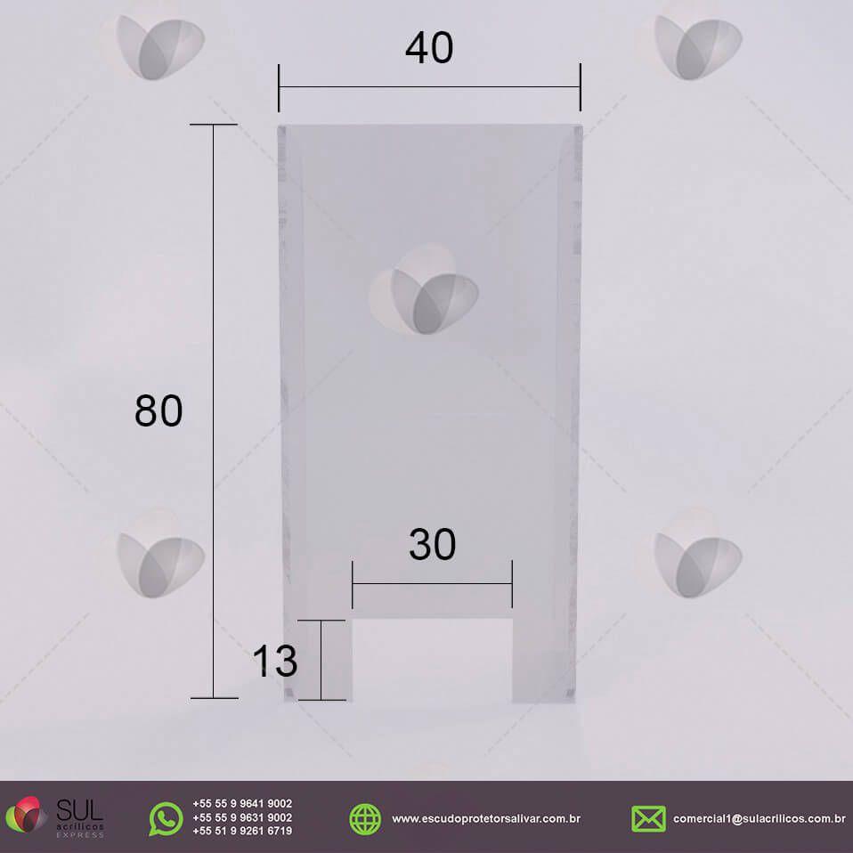 Barreira de Proteção para Caixa de Loja de Conveniência - Kit com 10