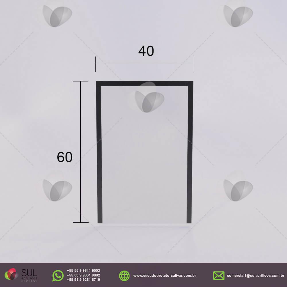 Barreira de Proteção em Acrílico p/ Caixa de Mercado - Mod. Econômico