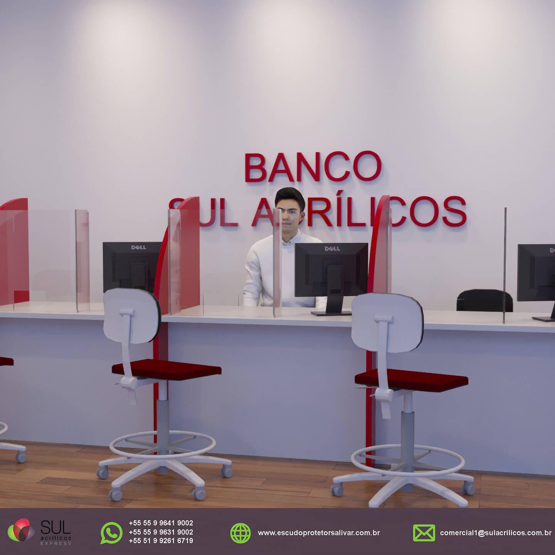 Barreira de Proteção para Mesa de Bancos - Kit com 10