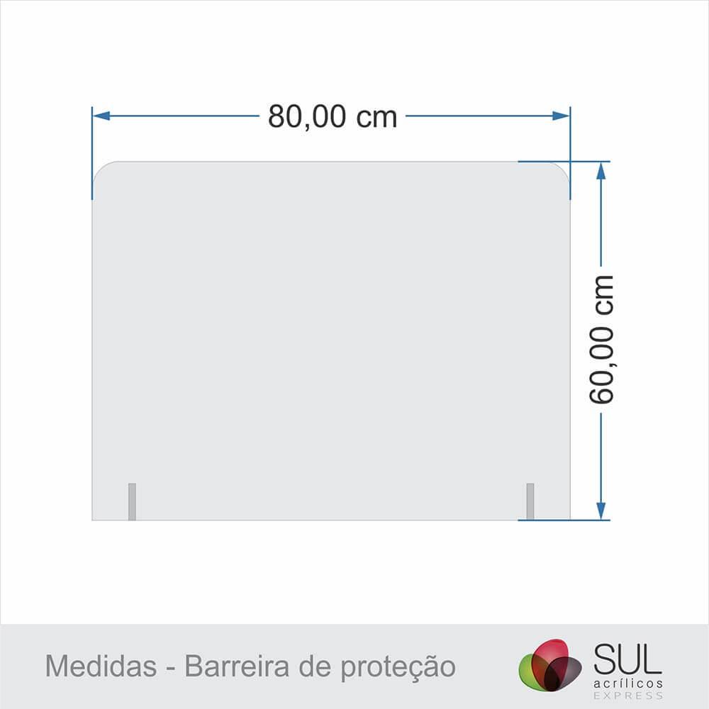 Barreira de Proteção para Mesa em Acrílico - 80x60cm