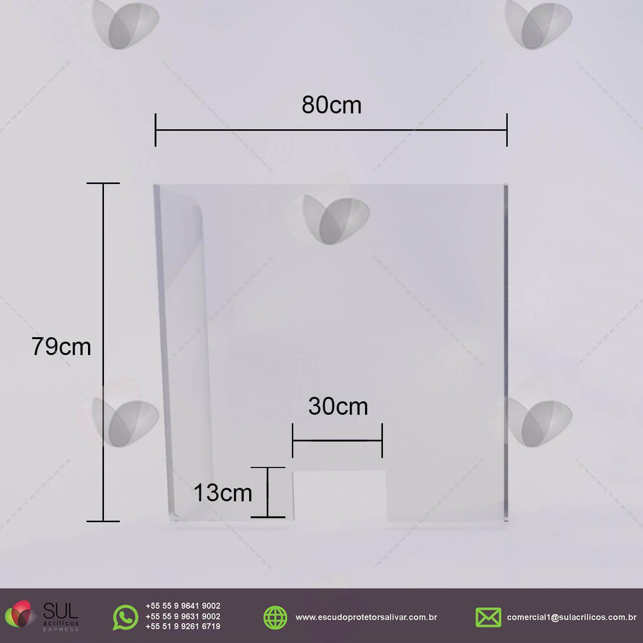 Barreira de Proteção para Caixa Duplo de Loja de Conveniência - Kit com 10