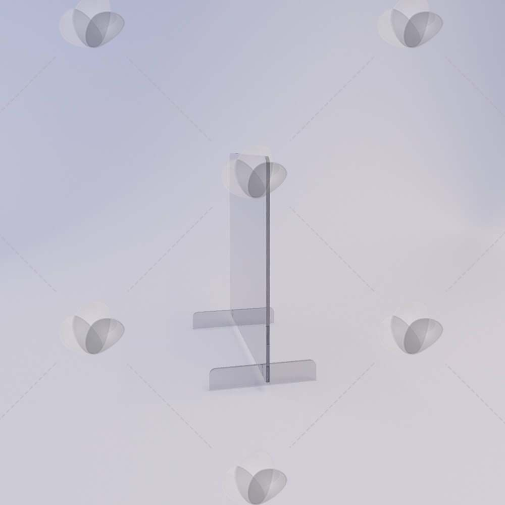 Barreira de Proteção para Mesa em Acrílico - 100x50cm