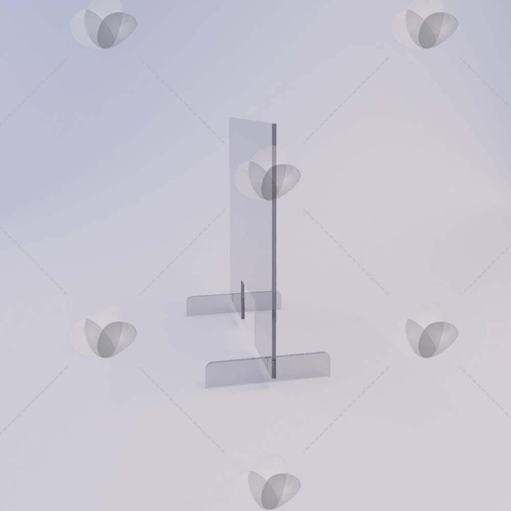 Barreira de Proteção p/ Mesa de Atendimento em Acrílico - 50x60cm