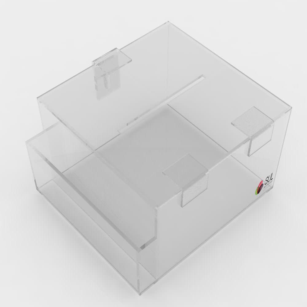 Caixa de Sugestões com Porta Folhetos para Balcão