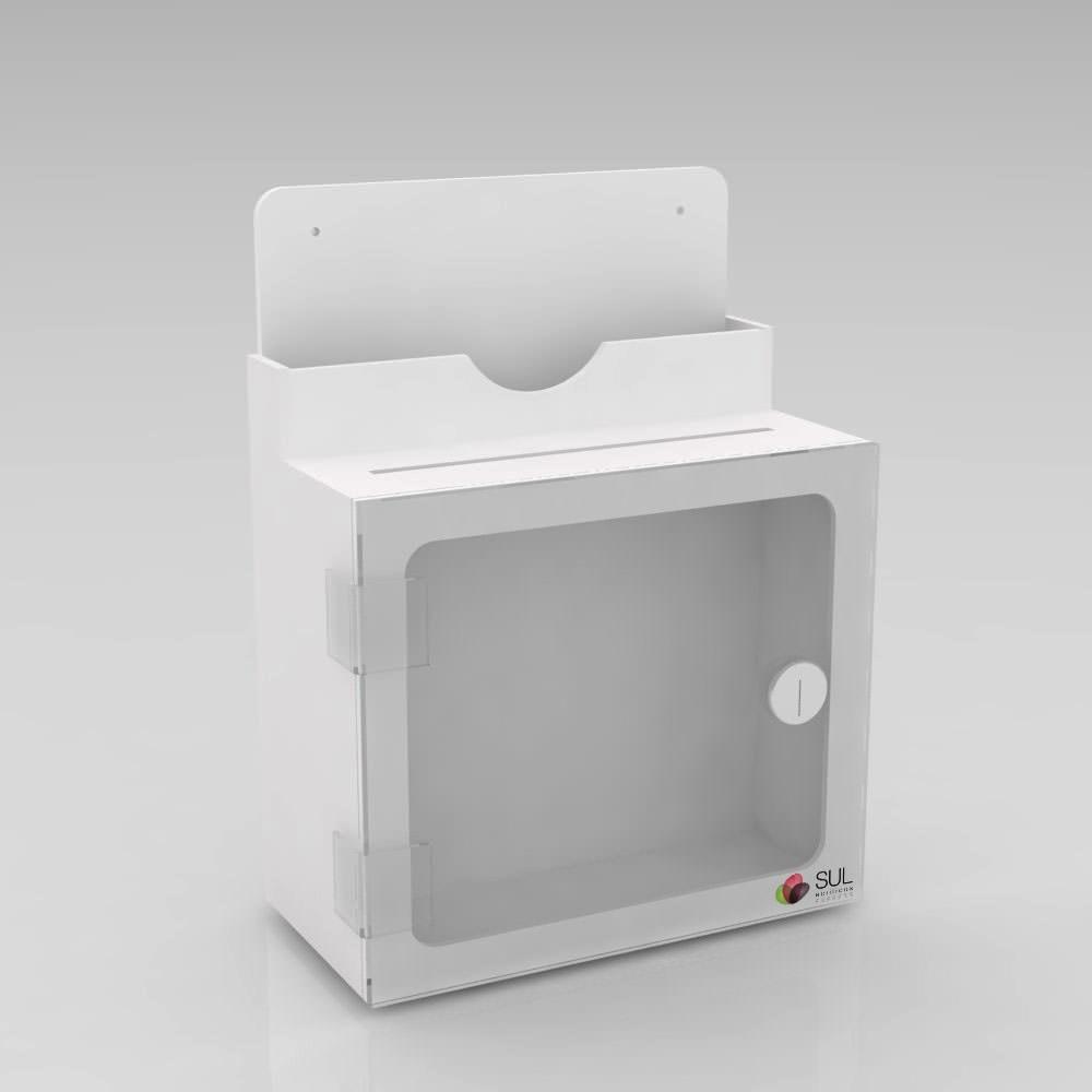 Caixa de Sugestões de Parede Branca - Tamanho M - Venda Unitária