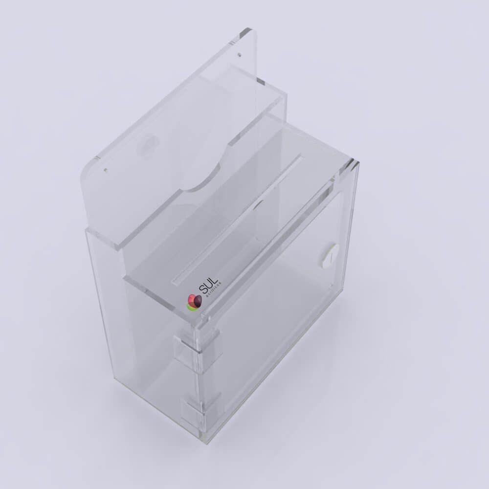 Caixa de Sugestões de Parede Cristal Premium