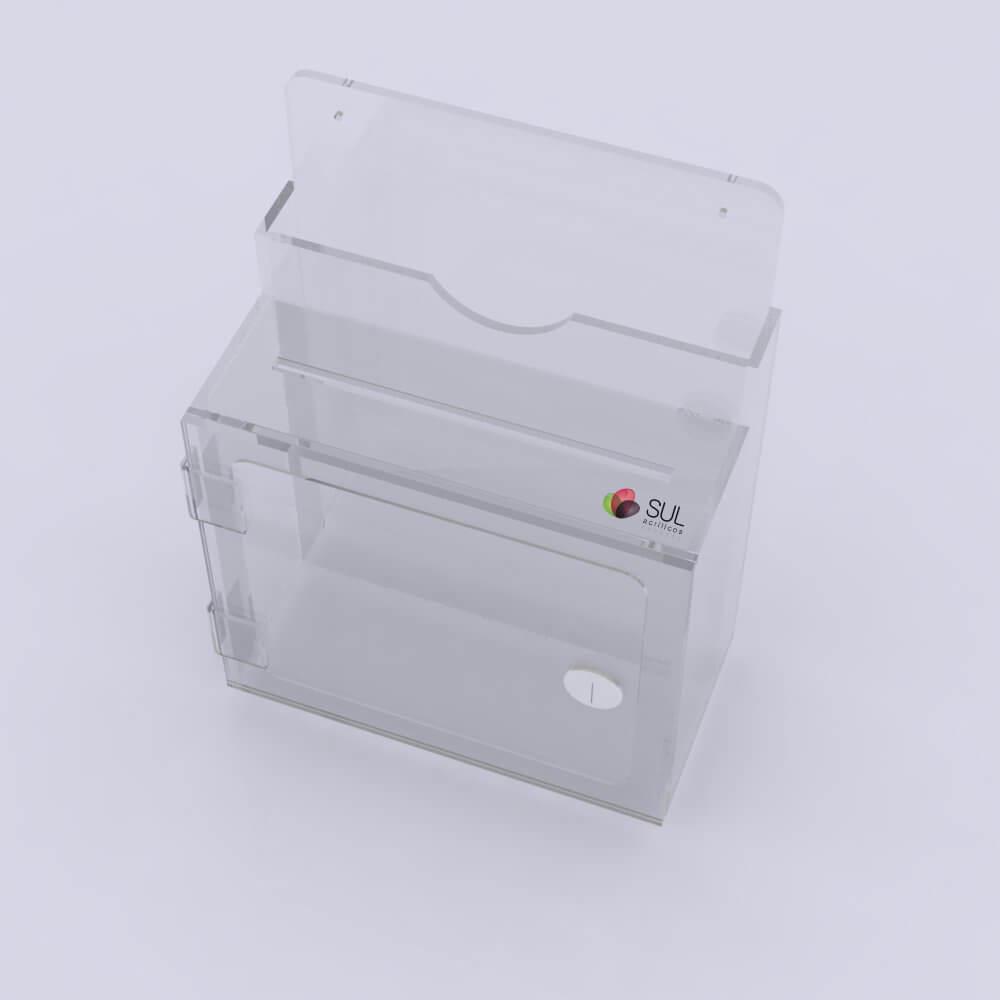 Caixa de Sugestões de Parede Cristal Premium - Venda Unitária
