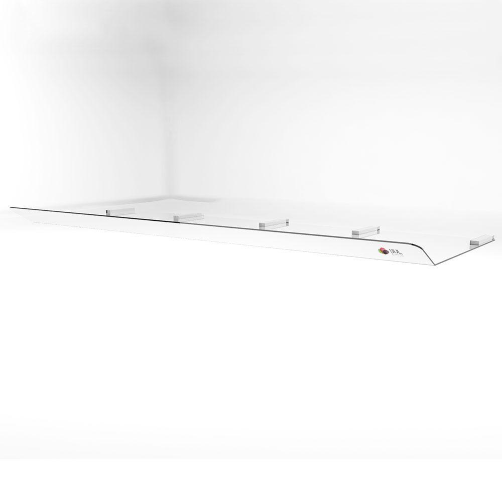 Defletor para ar condicionado em acrílico direcionador de ar piso teto 36.000 - 48.000 BTUS