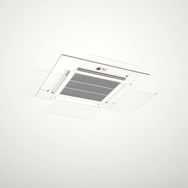 Defletor para ar condicionado em acrílico direcionador de ar cassete K7 12.000 - 60.000 BTUS