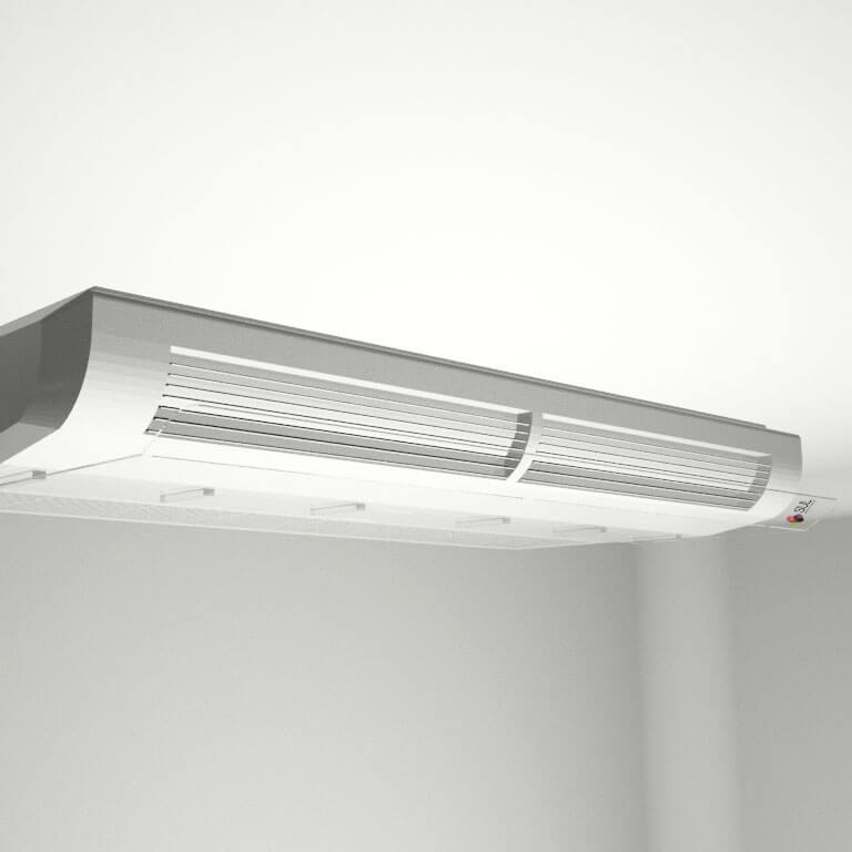 Defletor para ar condicionado em acrílico direcionador de ar -  piso teto 48.000 - 60.000 BTUS