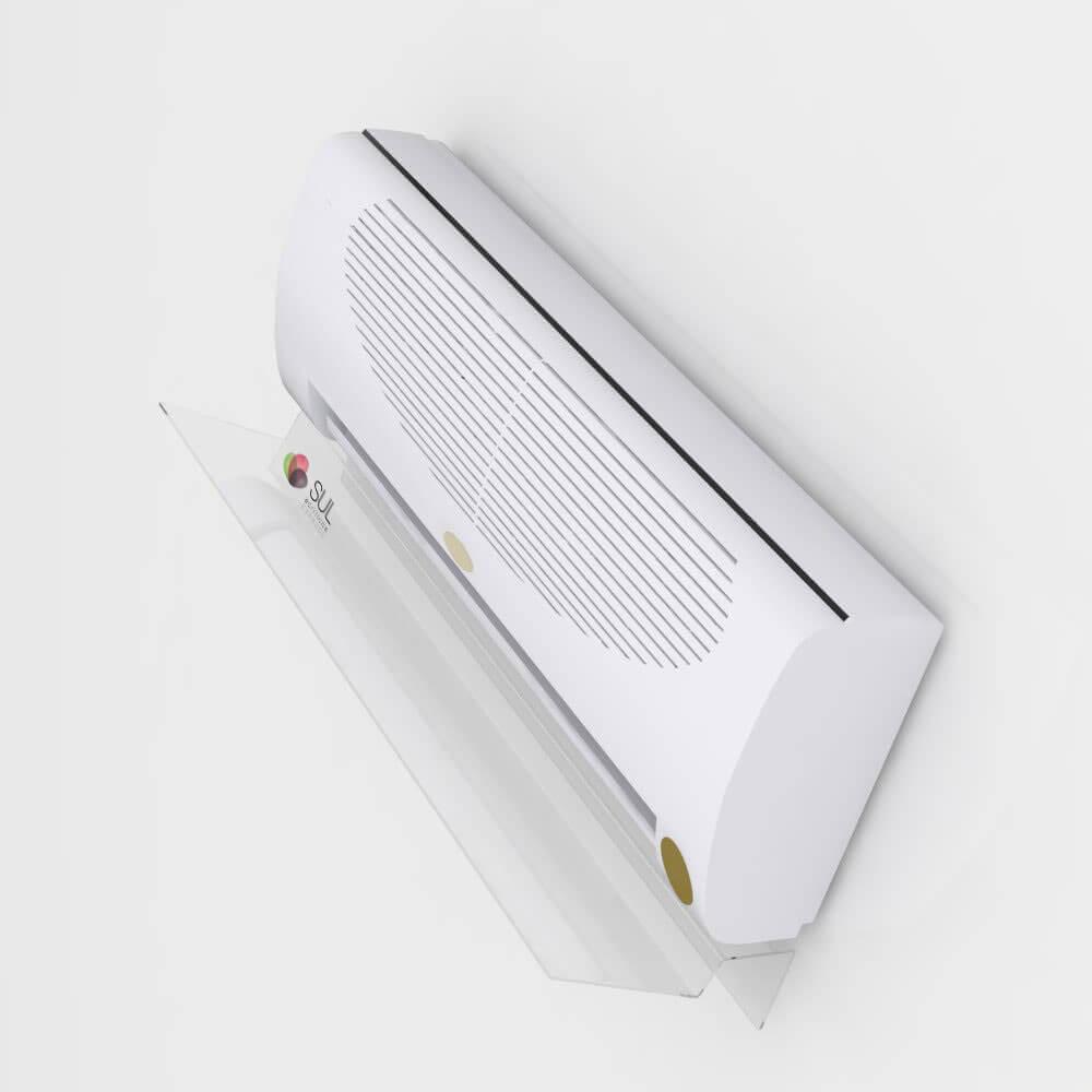 Defletor para ar condicionado em acrílico direcionador de ar 24.000 - 36.000 BTUS