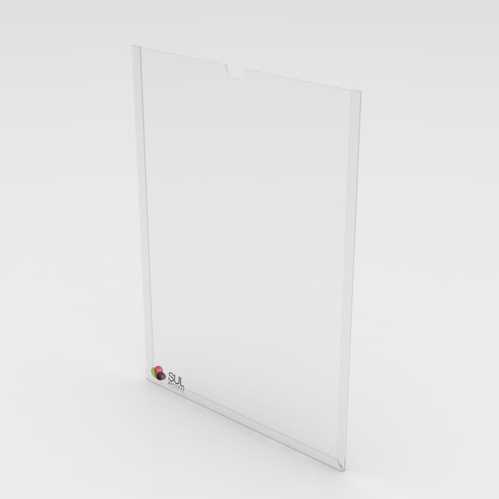 Display bolso folha A3 horizontal ou vertical em acrílico para parede | 2 unidades