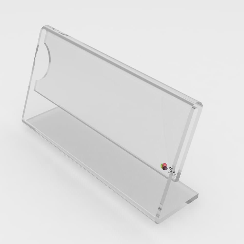 Porta Etiqueta/Preçário de Mesa  8x4cm - 10 Unidades