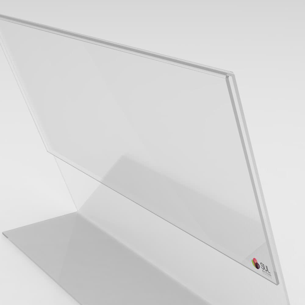 Display L Paisagem/Horizontal A6 Mesa - Pcte 4 unidades