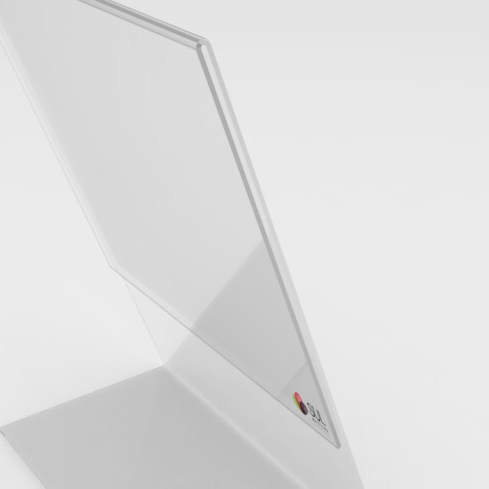 Display L Retrato/Vertical A6 Mesa - 4 Unidades