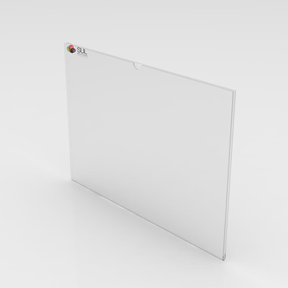 Display sanduíche dobrado porta folha A6 horizontal - 4 unidades