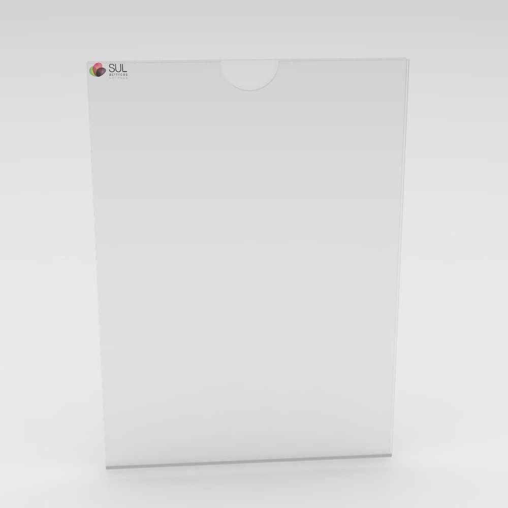 Display sanduíche dobrado porta folha A4 vertical - 2 unidades