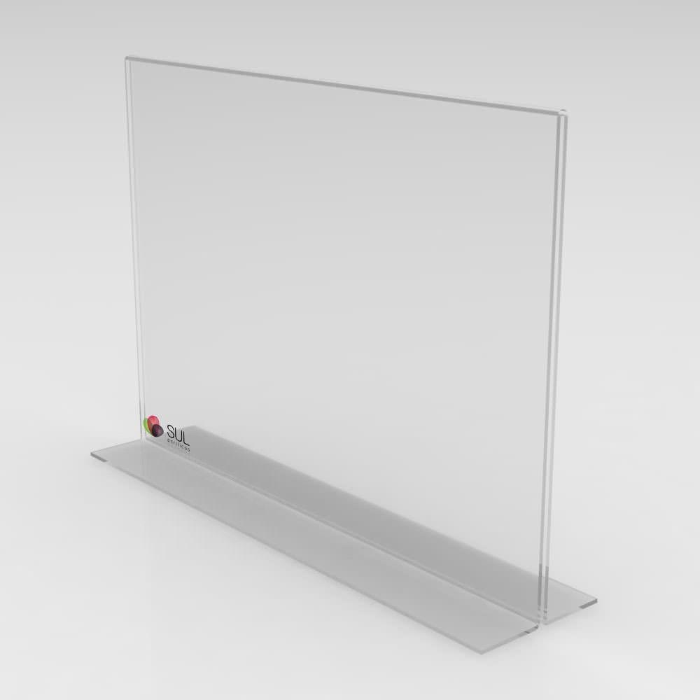 Display T Paisagem/Horizontal A4 - 2 Unidades