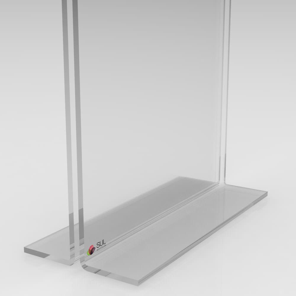 Display porta folha, flyer ou avisos A3 modelo T horizontal - 2 unidades