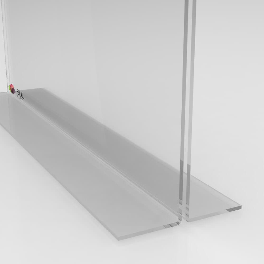 Display porta folha, flyer ou avisos A6 modelo T horizontal - 4 unidades
