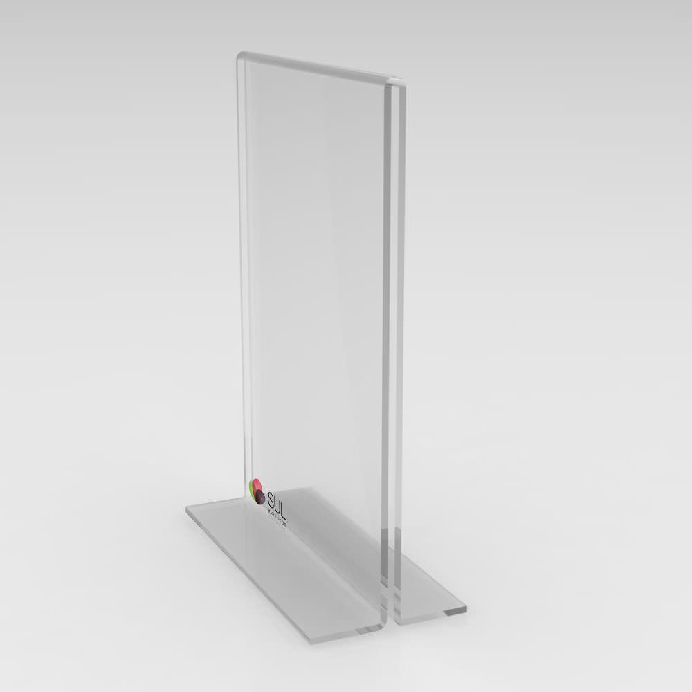 Display porta folha, flyer ou avisos A5 modelo T vertical - 4 unidades
