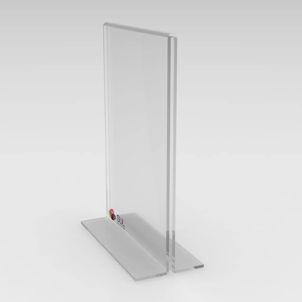 Display Porta Folha de Acrílico Vertical - Mod. T - Tam. A4