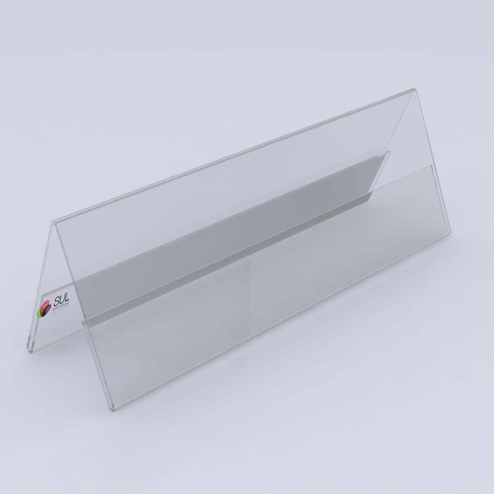 Display Prisma em Acrílico p/ Mesa, Balcão e Buffet | 30x10cm