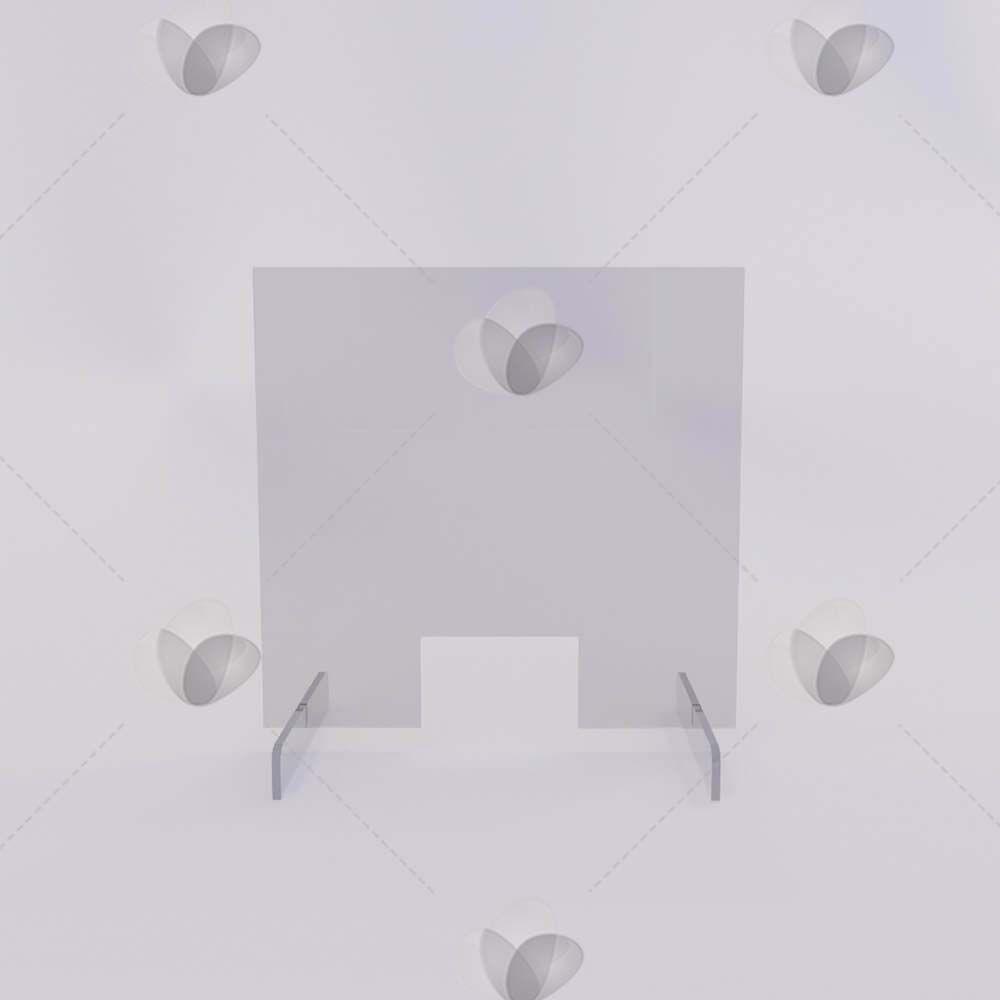 Escudo Protetor para Mesa de Atendimento Desmontável - 80x60cm
