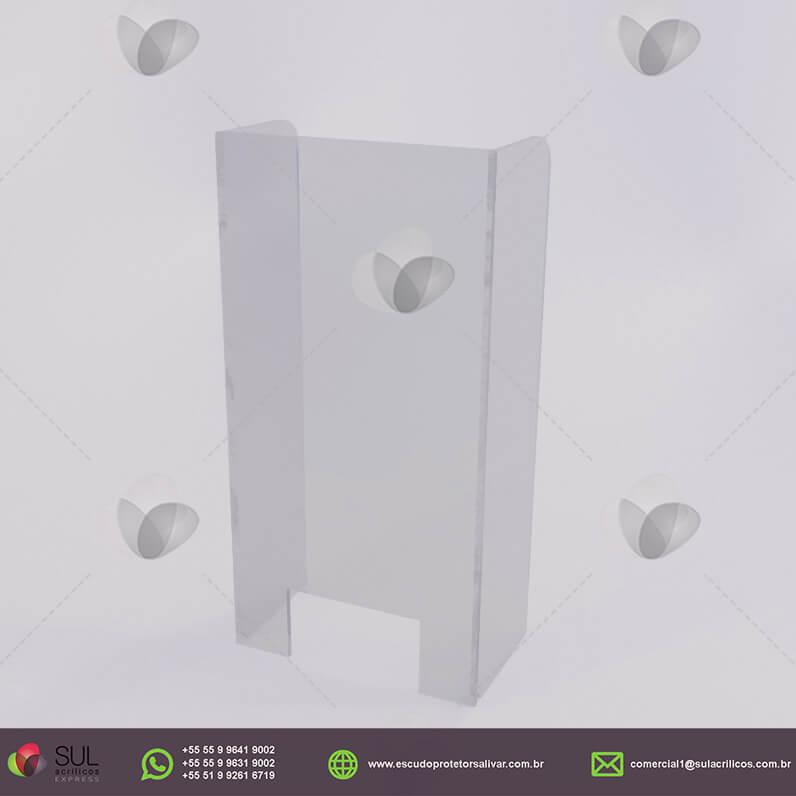 Barreira de Proteção em Acrílico p/ Caixa de Conveniência - Kit c/ 10