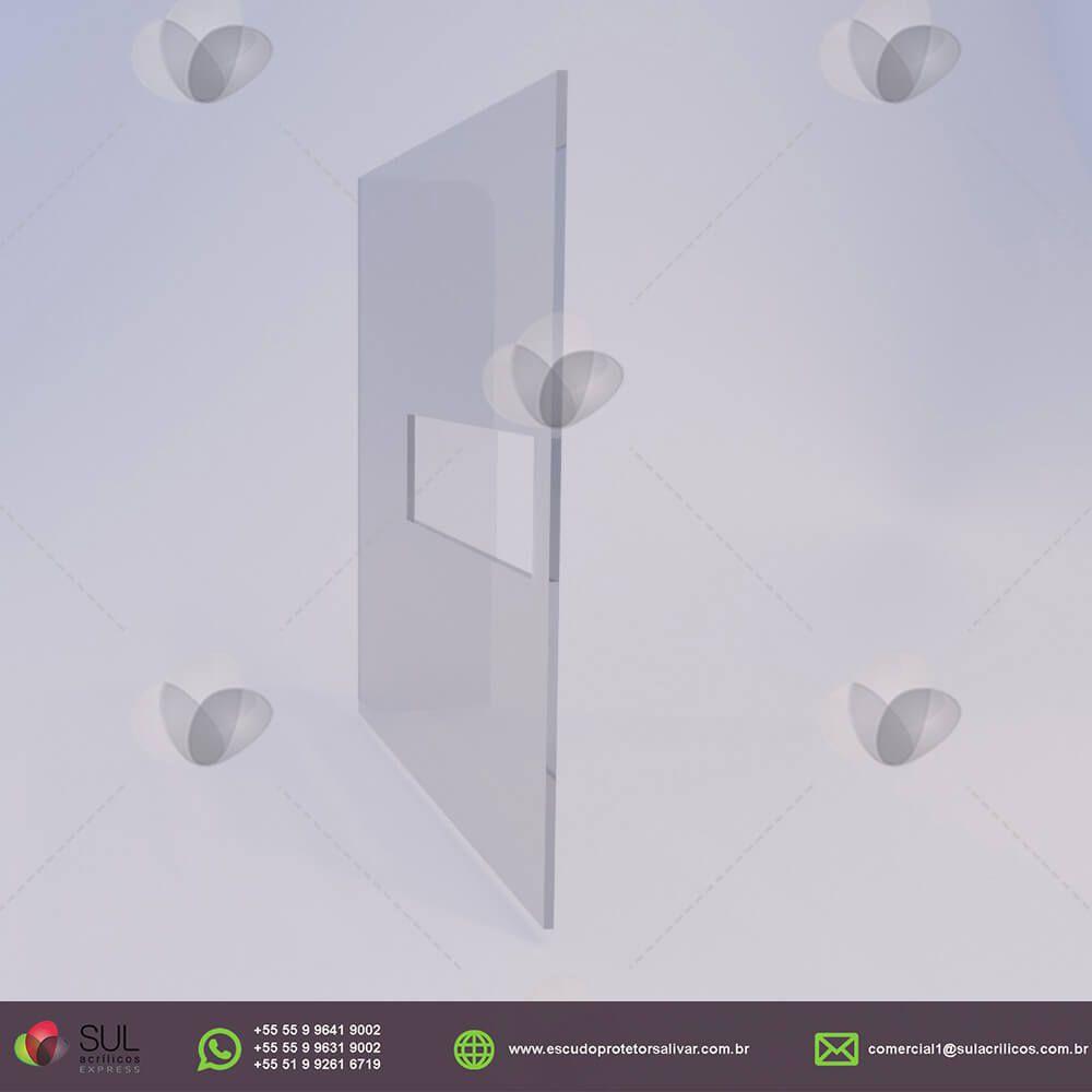 Escudo Protetor Salivar para Mercado com Recorte Central - Kit com 10